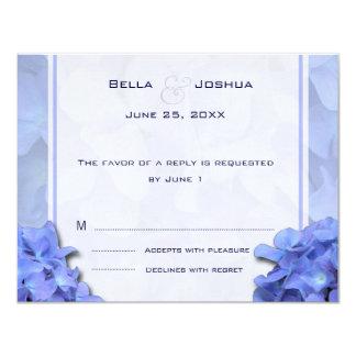 Blue Hydrangeas RSVP 11 Cm X 14 Cm Invitation Card