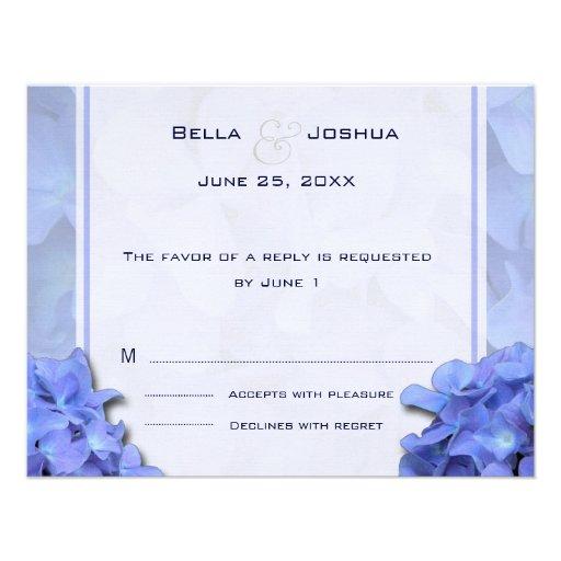 Blue Hydrangeas RSVP Invite