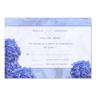 "Blue Hydrangeas RSVP 3.5"" X 5"" Invitation Card"