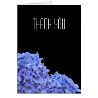 Blue Hydrangeas Thank You Note Card