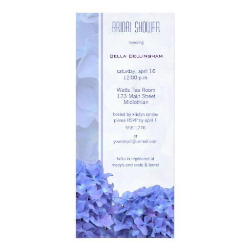 Blue Hydrangeas Wedding Invitation