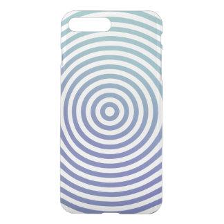 Blue hypnotic circles iPhone 7 plus case