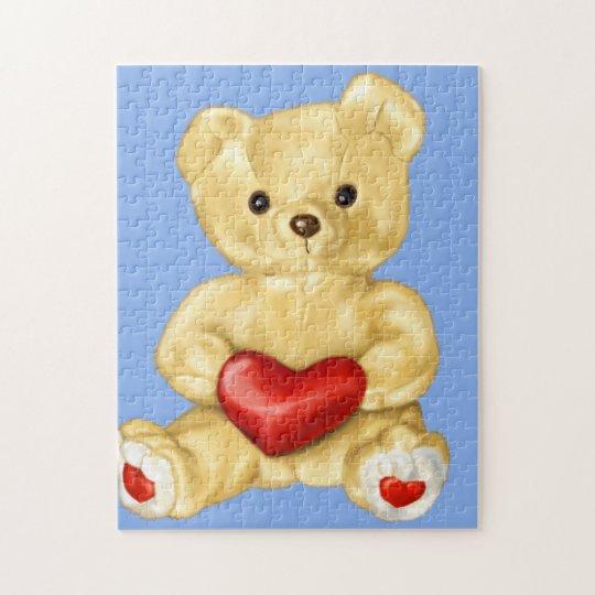 Blue Hypnotising Cute Teddy Bear Jigsaw Puzzle