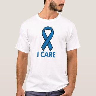 BLUE   I CARE AWARENESS RIBBON T-Shirt