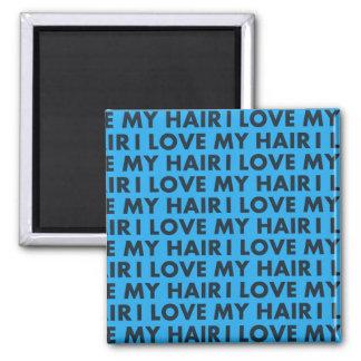 Blue I Love My Hair Bold Text Cutout Magnet