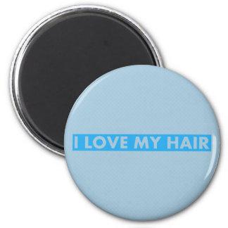 Blue I Love My Hair Cutout Magnet