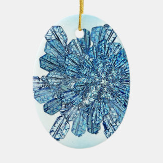 Blue Ice Crystal Ceramic Oval Decoration