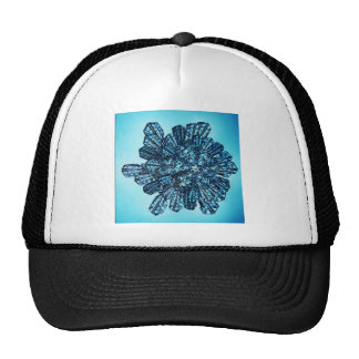 Blue Ice Crystal Mesh Hats