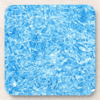 BLUE ICE CRYSTALS DRINK COASTERS