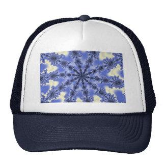 Blue ice crystals trucker hat