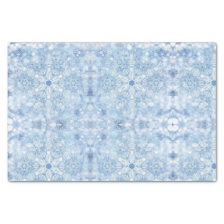 Blue ice crystals tissue paper