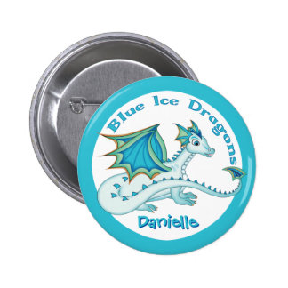 Blue Ice Dragon Button
