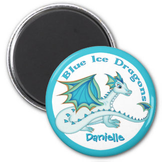 Blue Ice Dragon Magnet