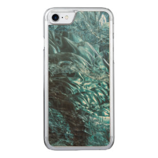 Blue ice of an ice cave, Iceland Carved iPhone 7 Case