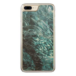 Blue ice of an ice cave, Iceland Carved iPhone 8 Plus/7 Plus Case