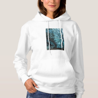 Blue ice of an ice cave, Iceland Hoodie