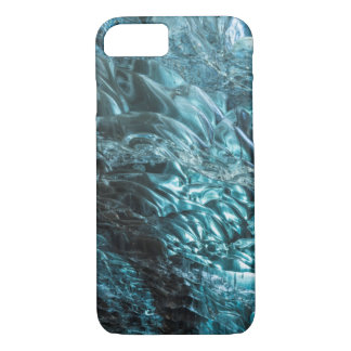 Blue ice of an ice cave, Iceland iPhone 7 Case