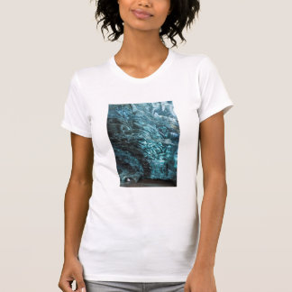 Blue ice of an ice cave, Iceland T-Shirt