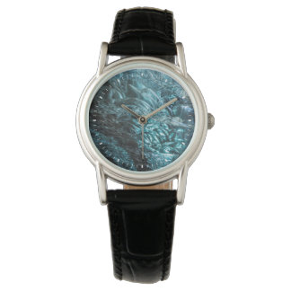 Blue ice of an ice cave, Iceland Wristwatches