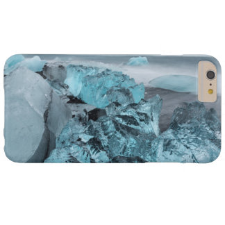Blue ice on beach seascape, Iceland Barely There iPhone 6 Plus Case
