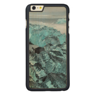 Blue ice on beach seascape, Iceland Carved Maple iPhone 6 Plus Case