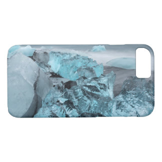 Blue ice on beach seascape, Iceland iPhone 8/7 Case