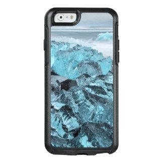 Blue ice on beach seascape, Iceland OtterBox iPhone 6/6s Case