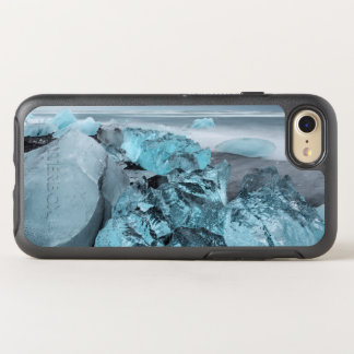 Blue ice on beach seascape, Iceland OtterBox Symmetry iPhone 8/7 Case