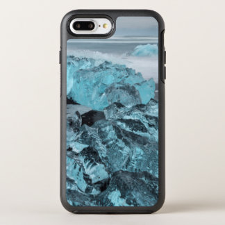 Blue ice on beach seascape, Iceland OtterBox Symmetry iPhone 8 Plus/7 Plus Case