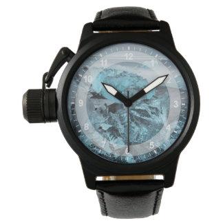Blue ice on beach seascape, Iceland Wrist Watch