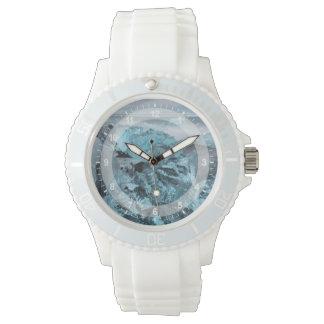 Blue ice on beach seascape, Iceland Wristwatches