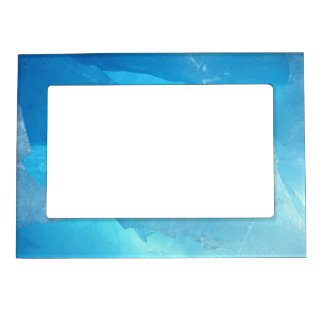 Blue Ice Picture Frame Magnet