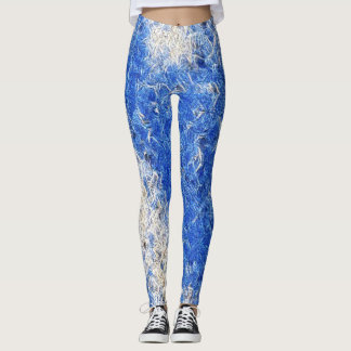 Blue Ice Rave Leggings