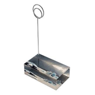 Blue Ice Table Card Holder