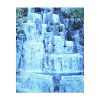 Blue Ice Waterfall Canvas Print