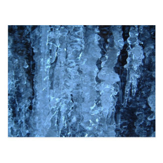 Blue icicles postcard