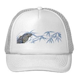 Blue Iguana with Blue Leaves Cap Trucker Hat