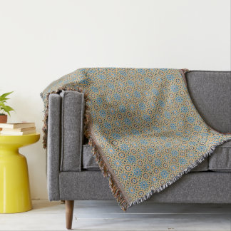 Blue In Bloom Pattern Blanket
