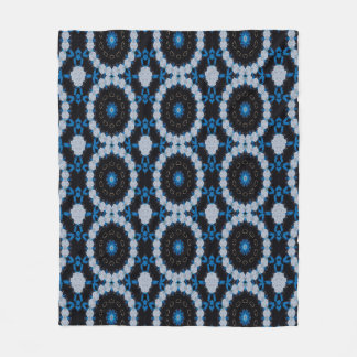 Blue in the morning and night fleece blanket