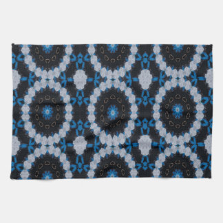 Blue in the morning and night tea towel