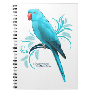 Blue Indian Ringneck Parrot Notebook