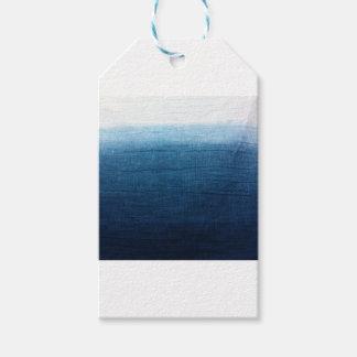 Blue Indigo Ombre Fade. Japanese Art! Gift Tags