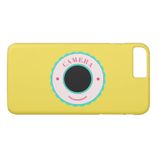 Blue individuality camera & smile iPhone 8 plus/7 plus case