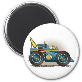 Blue Indy Race Car Magnets