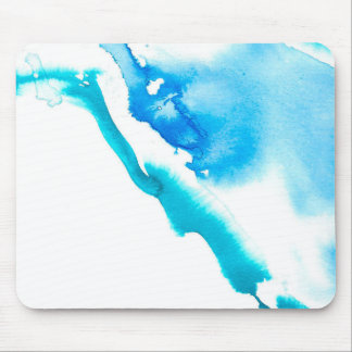 Blue Ink Bleed Mouse Pad
