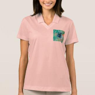 Blue Inky Betta Fish Polo T-shirt