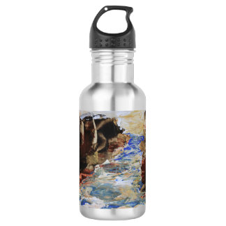 Blue Inlet Abstract 532 Ml Water Bottle