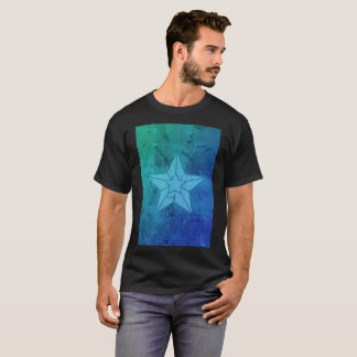 Blue Instagram Filter Starfish Art Modern T-Shirt