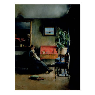 Blue Interior, 1883 Postcard