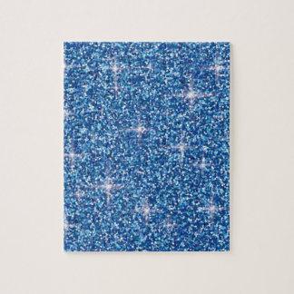 Blue iridescent glitter jigsaw puzzle